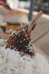 Sticky tamarind lamb short ribs with toasted sesame
