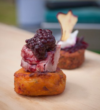Duck Crispy skinned duck breast with kumara boxty and blackberry jus